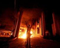 Göstericiler İran'ın Başkonsolosluğunu ateşe verdi