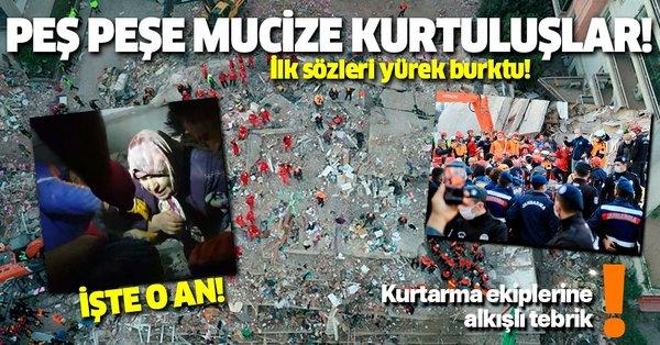 Son dakika: İzmir depreminde mucize kurtuluşlar!