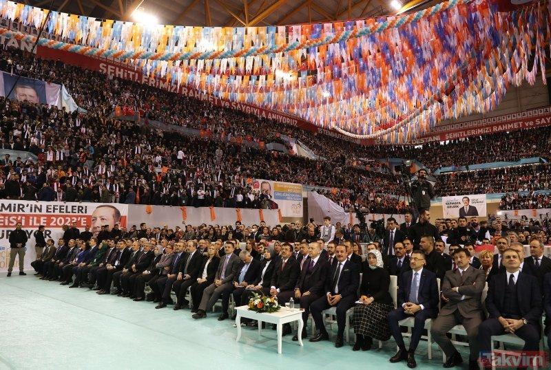 Başkan Erdoğan İzmir'de coşkuyla karşılandı