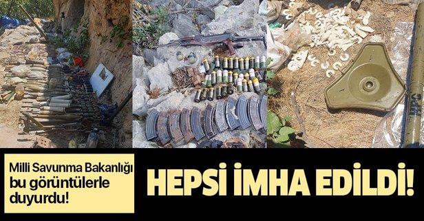 MSB duyurdu: Pençe-Kaplan operasyonunda çok sayıda silah ve mühimmat ele geçirildi