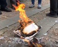 Avrupa'nın ortasında iğrenç provokasyon! Kur'an-ı Kerim yaktılar