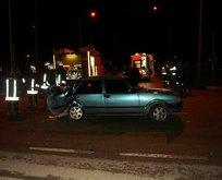 Kaza yapan aracın LPG tankı patladı: 3 yaralı