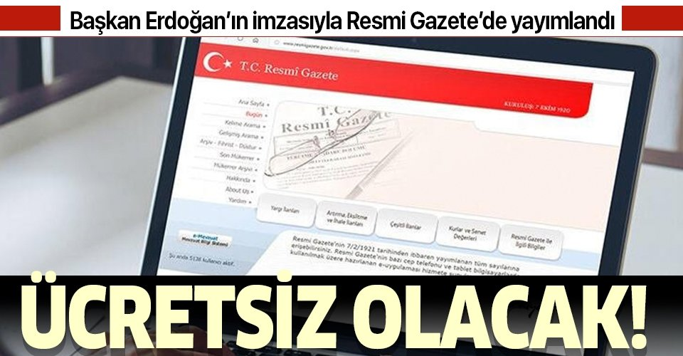 Son dakika: Başkan Erdoğan imzaladı: Koronavirüs tedavisi ücretsiz yapılacak!