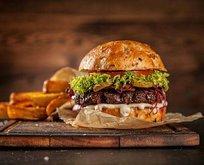 Hamburger bağırsakları üzer