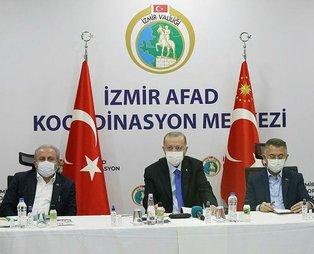 Başkan Recep Tayyip Erdoğan'dan deprem bölgesi İzmir'de önemli açıklamalar
