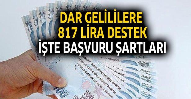 SGK'dan dar gelirlilere 817 lira destek müjdesi