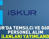 İŞKUR'da temsilci ve görevli personel alım ilanları yayımlandı