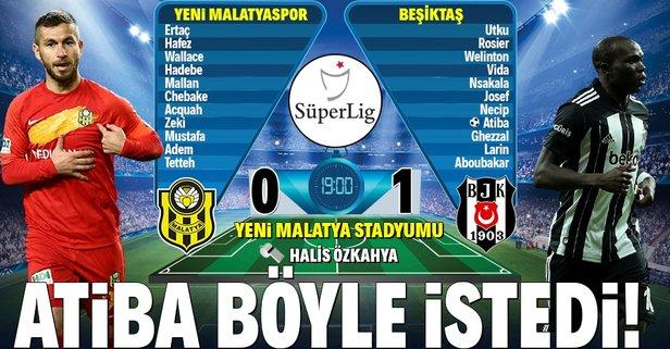 Beşiktaş, Malatya deplasmanında galip!