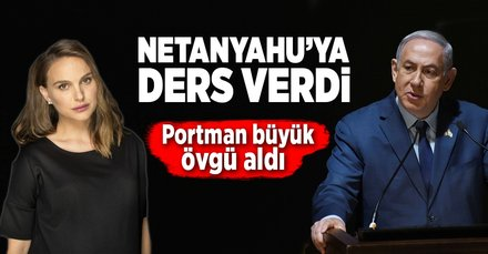 Netanyahu'ya ders verdi