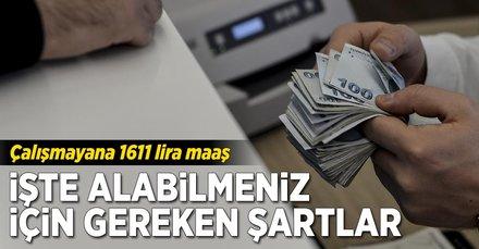 Çalışmayana devletten 1611 lira maaş!
