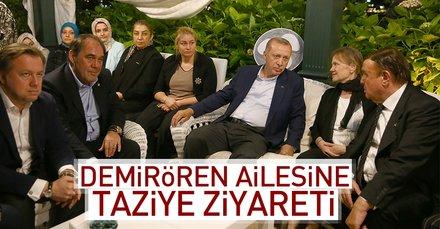 Erdoğandan Demirören ailesine taziye ziyareti