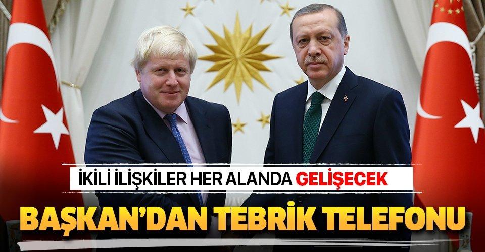 Başkan Erdoğan'dan Birleşik Krallık Başbakanı Boris Johnson'a tebrik telefonu