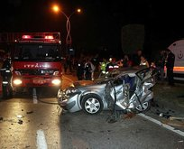 Sakarya'da feci kaza: 3 ölü!