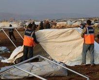 Türkiye'den İdlib'deki mağdurlara yardım eli