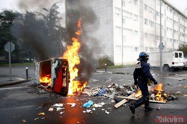 Fransada son dakika! Fransa sokakları alev alev