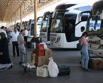 Otobüs firmalarında 3 günlük tatil yoğunluğu