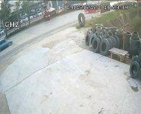 AK Partili yaralandığı kaza kamerada