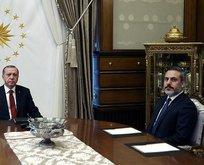 Başkan Erdoğan, Fidan'ı kabul etti