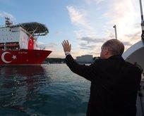 Başkan Erdoğan, Fatih sondaj gemisini selamladı