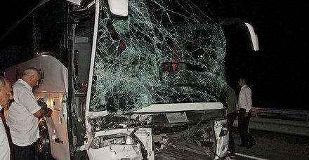 Samsun'da feci kaza! TIR yolcu otobüsüne çarptı