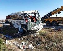 Afyon'da yolcu otobüsü devrildi! Ölü ve yaralılar var