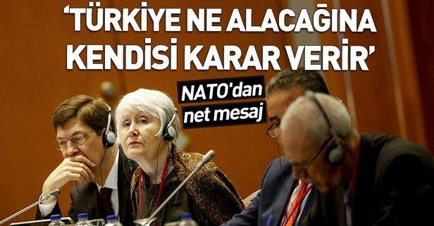Türkiye ne alacağına kendisi karar verir