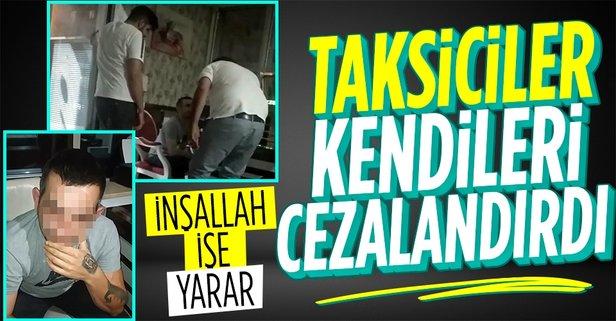Taksiciler meslektaşlarını bakın ne için dövdü