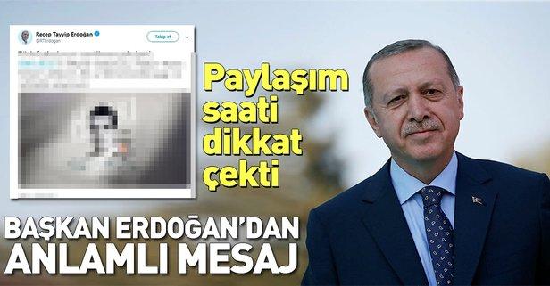 Başkan Erdoğan'dan dikkat çeken paylaşım