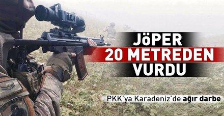 PKK'ya Karadeniz'de ağır darbe! JÖPER 20 metreden vurdu