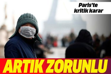 Koronavirüste ikinci dalga korkusu! Paris'te maske takma zorunluluğu...