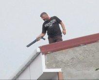Çatıda dehşet
