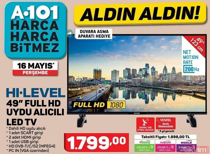16 Mayıs A101 aktüel ürünler kataloğu: Televizyon ve cep telefonu dikkat çekiyor! İşte güncel katalog