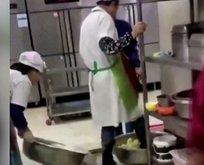 Çin'de üniversite kantininde iğrenç görüntü