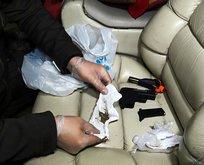 VIP araçla uyuşturucu partisi