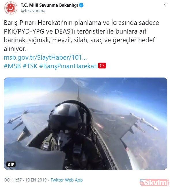 MSB duyurdu: Barış Pınarı Harekâtı'nda sadece teröristler hedef alınıyor!