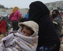 İdlib'den Türkiye sınırına göç sürüyor