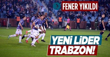 Yeni lider Trabzonspor!