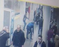 Polise saldırı kamerada