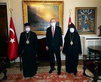 Erdoğan, Sahak Masalyan ile bir araya geldi