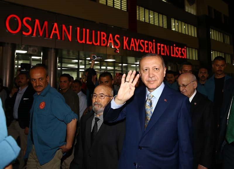 Erdoğan, Kayseride Osman Ulubaş Fen Lisesinin açılışını gerçekleştirdi