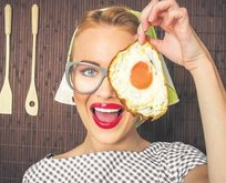 Yumurta ile keskin gözler