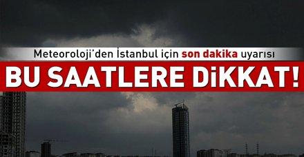 Son dakika: Meteoroloji İstanbul için uyardı! Bugün İstanbul'da hava nasıl olacak? 7 Eylül Cuma hava durumu