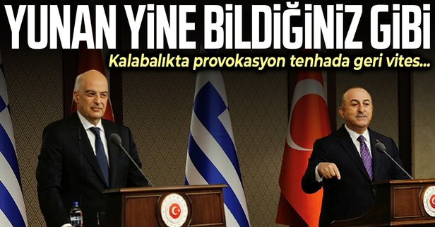 Dendias'ın provokasyonu sonrası Yunanistan'dan geri adım