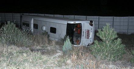 Afyon'da feci kaza! Yolcu otobüsü devrildi: 2 ölü, 32 yaralı