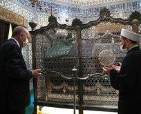 Başkan Erdoğan Eyüp Sultan Camisi'nde dua etti