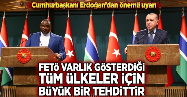 Erdoğan: FETÖ ile mücadelemize en kararlı desteği verdiler
