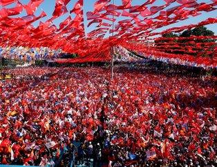 AK Parti'nin Gaziantep mitinginden muhteşem görüntüler