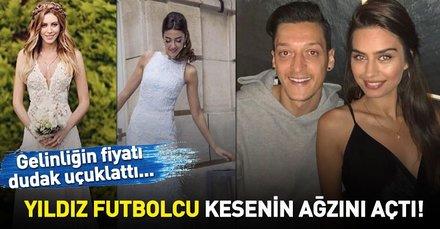 Arsenal'in yıldızı Mesut Özil müstakbel eşi Amine Gülşe'nin gelinliği için kesenin ağzını açtı! İşte ünlülerin gelinlikleri