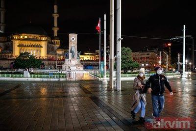 İstanbul'da sokakların sakin ve boş halleri fotoğraf karelerine böyle yansıdı