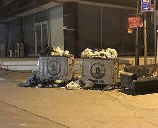 CHP'li Maltepe Belediyesi'nde grev nedeniyle toplanmayan çöpler sokaklarda birikti!